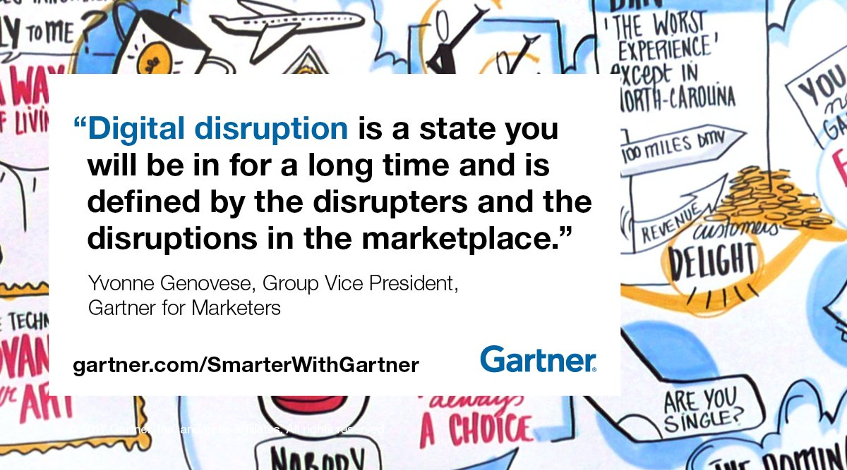 marketing disruption GartnerDMC CMO