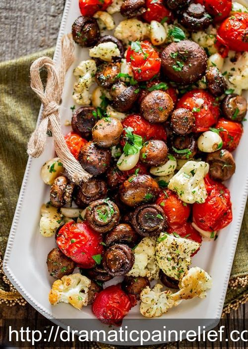 food italianfood mushrooms veg cauliflower tomato creminimushrooms garlic parsley oliveoil vegan vegetarian glutenfree paleo healthy savoury recipe