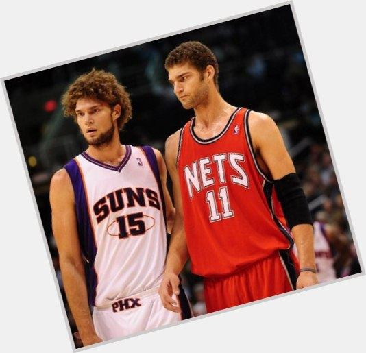 Brook Lopez light brown hair & hairstyles Athletic body,