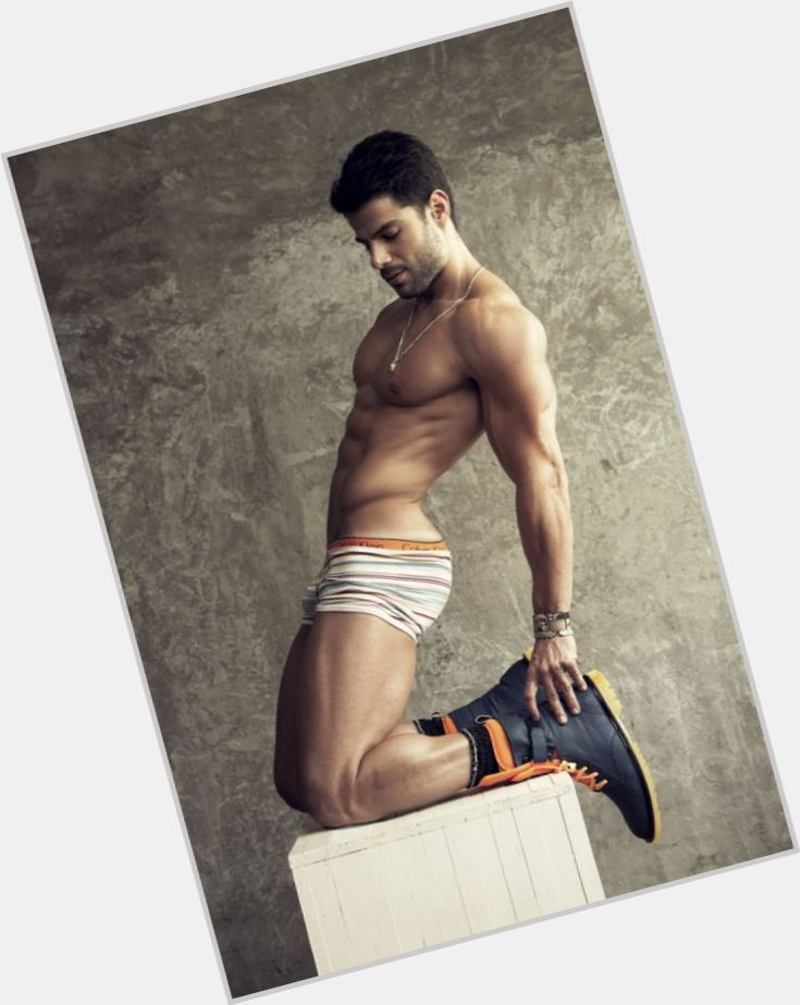 Bruno Pacheco dark brown hair & hairstyles Athletic body,