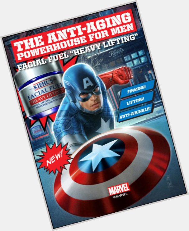 Capt America light brown hair & hairstyles Athletic body,