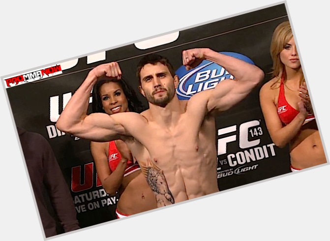 Carlos Condit dark brown hair & hairstyles Athletic body,