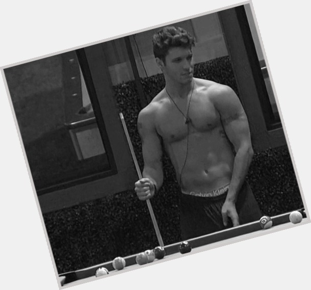 Cody Calafiore dark brown hair & hairstyles Athletic body,
