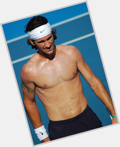 Carlos Moya light brown hair & hairstyles Athletic body,