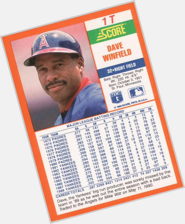 Dave Winfield birthday 2015