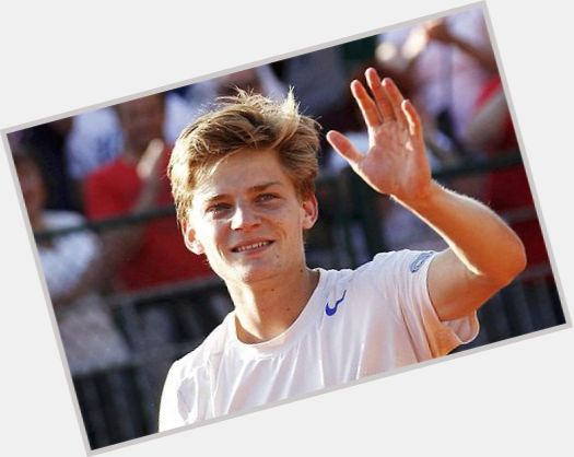 David Goffin blonde hair & hairstyles Athletic body,