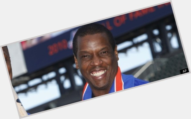 Dwight Gooden dark brown hair & hairstyles Athletic body,