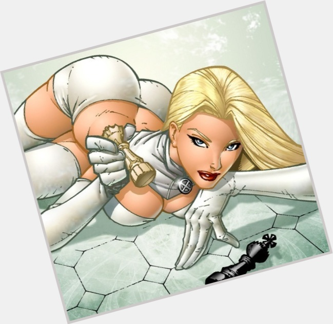 Emma Frost blonde hair & hairstyles Athletic body,
