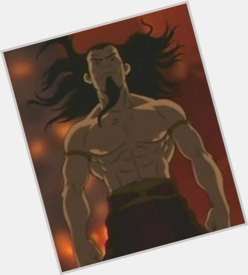 Firelord Ozai dark brown hair & hairstyles Athletic body,