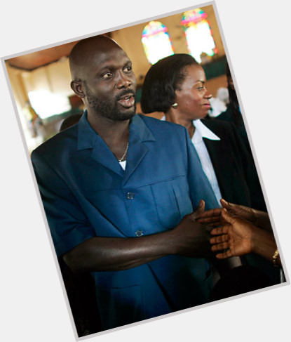 """<a href=""""/hot-men/george-weah/is-he-millionaire-ghana-french-citizen-broke-divorced"""">George Weah</a> Athletic body,  bald hair & hairstyles"""