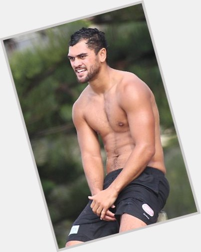 Karmichael Hunt dark brown hair & hairstyles Athletic body,