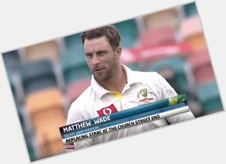 Matthew Wade dark brown hair & hairstyles Athletic body,