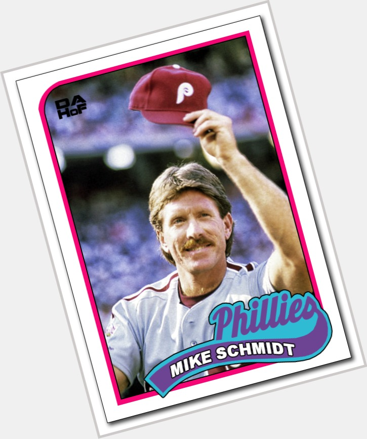 Mike Schmidt dark brown hair & hairstyles Athletic body,