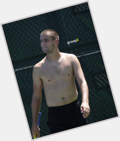 Mikhail Youzhny light brown hair & hairstyles Athletic body,