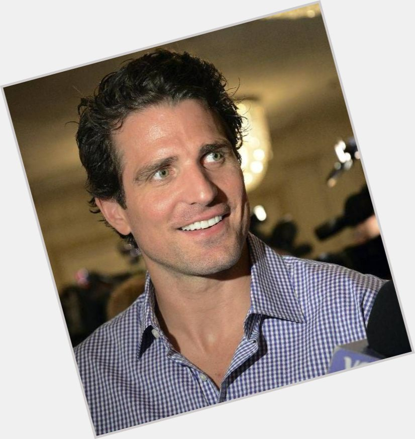 Patrick Sharp dark brown hair & hairstyles Athletic body,