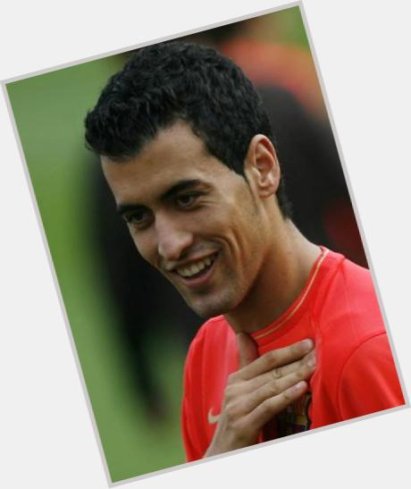 Sergio Busquets dark brown hair & hairstyles Athletic body,