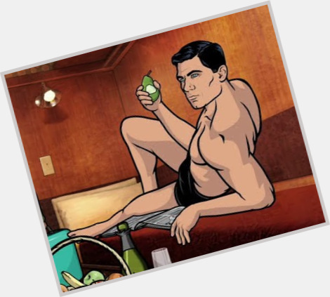 """<a href=""""/hot-men/sterling-archer/is-he-left-handed"""">Sterling Archer</a> Athletic body,  black hair & hairstyles"""