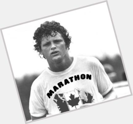 Terry Fox dark brown hair & hairstyles Athletic body,